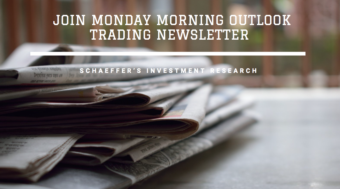 Schaeffer's Investment Research Invites Interested Parties to Join Monday Morning Outlook Trading Newsletter